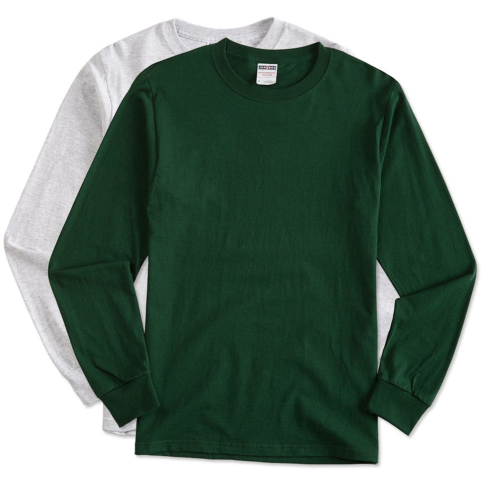 Custom canada jerzees lightweight 100 cotton long for Made t shirts online