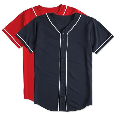Augusta Wicking Mesh Contrast Trim Baseball Jersey