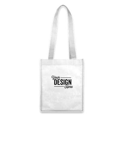 Mini Elm Non-Woven Grocery Tote Bag - White