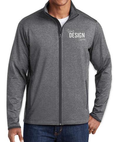 Sport-Tek Sport-Wick Stretch Full Zip Jacket - Charcoal Grey Heather / Charcoal Grey