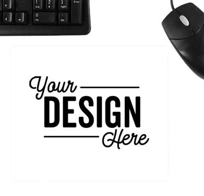 Full Color BIC Mouse Pad - White