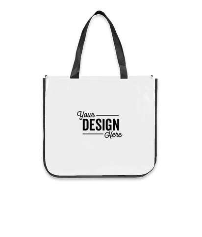 Large Laminated Shopper Tote Bag - White
