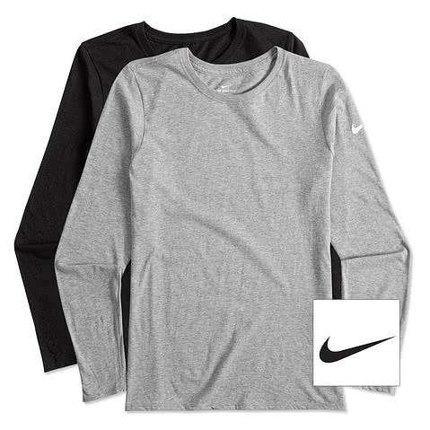 Nike Women's 100% Cotton Long Sleeve T-shirt