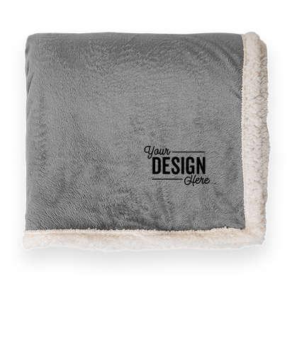 Kanata Original Lambswool Oversized Blanket - Light Gray