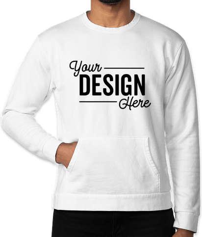 Next Level Pocket Crewneck Sweatshirt - White