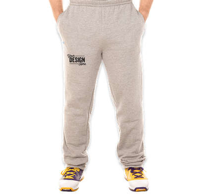 Russell Athletic Cotton Rich Open Bottom Sweatpants - Medium Grey Heather