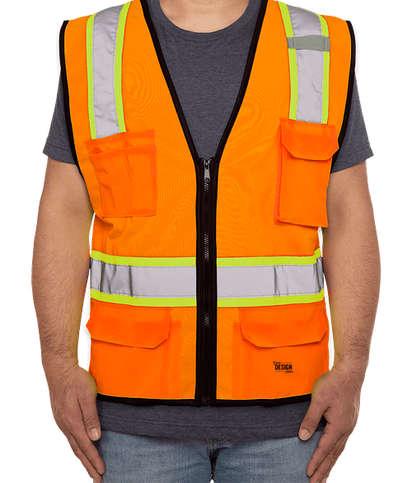 Kishigo Class 2 Pocket Contrast Safety Vest - Orange