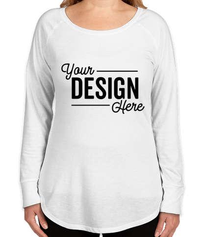 District Women's Tri-Blend Long Sleeve Tunic T-shirt - White
