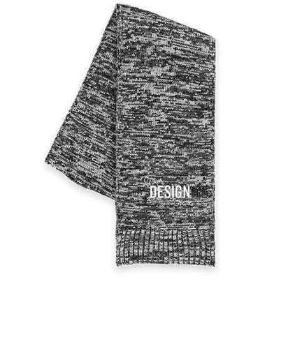 Sport-Tek Melange Scarf - Black/ Iron Grey/ White