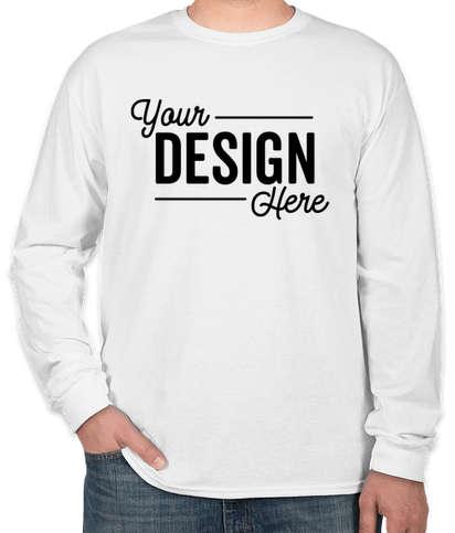 Canada - Gildan 100% Cotton Long Sleeve T-shirt - White