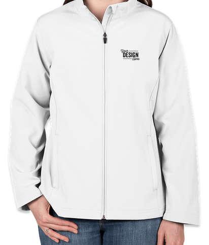 Team 365 Women's Soft Shell Jacket - White