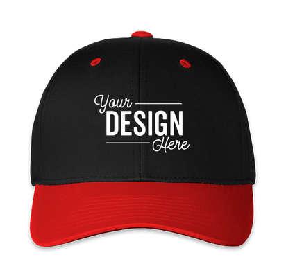 Pacific Headwear Cotton Blend Adjustable Hat - Black / Red