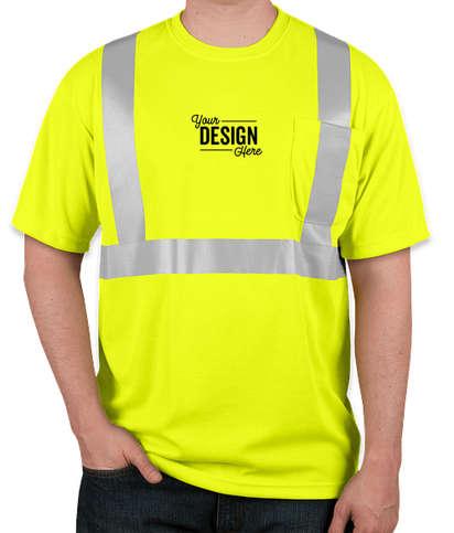 CornerStone Class 2 Performance Safety Pocket Shirt - Safety Yellow