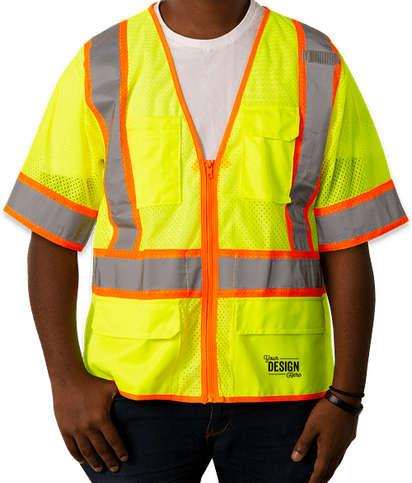 Kishigo Class 3 Pocket Mesh Safety Vest - Lime