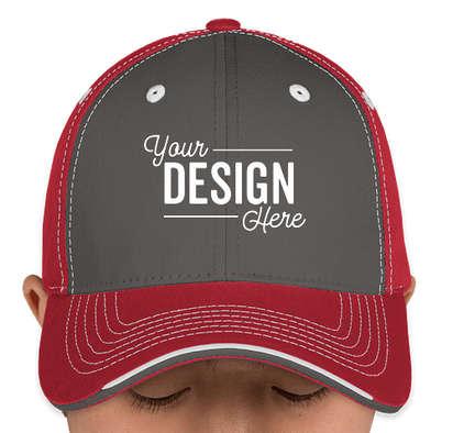 Canada - Sportsman Tri-Color Contrast Stitched Hat - Charcoal / Garnet