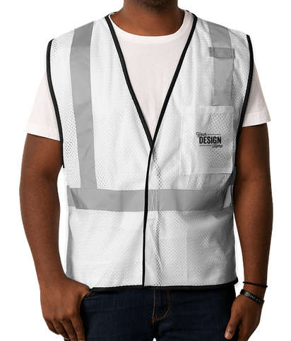Kishigo Non-ANSI Enhanced Visibility Color Safety Vest - White