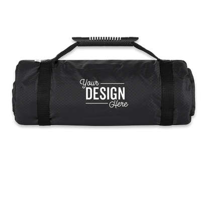 Kanata Tek Explorer Roll-Up Picnic Blanket - Black / Buffalo Check