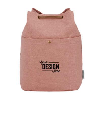 Field & Co. 16 oz. Cotton Canvas Drawstring Bag - Pink