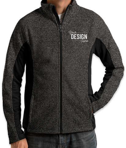 Canada - Spyder Constant Sweater Fleece Jacket - Black Heather / Black