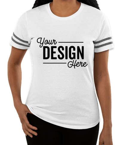 Gildan Women's Varsity T-shirt - White / Graphite Heather