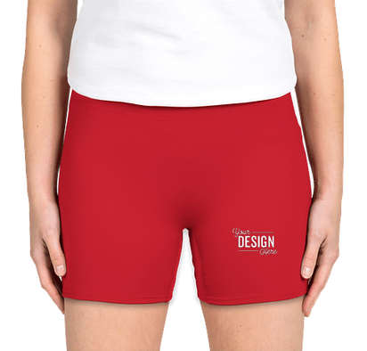 """Badger Women's 4"""" Compression Shorts - Red"""