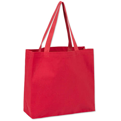 Large Gusseted Midweight 100% Cotton Canvas Tote