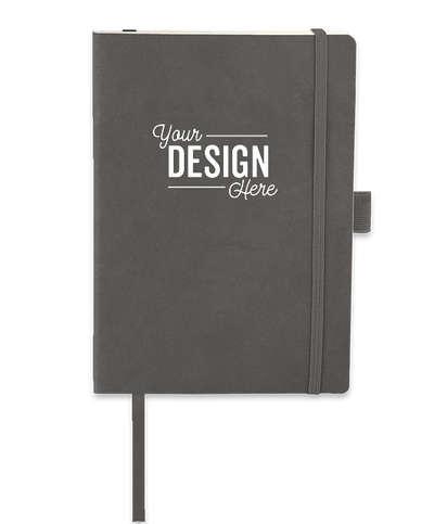 JournalBooks ® Debossed Revello Soft Cover Bound Notebook - Grey
