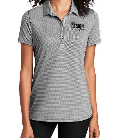 Port Authority Women's Gingham Polo - Black / White