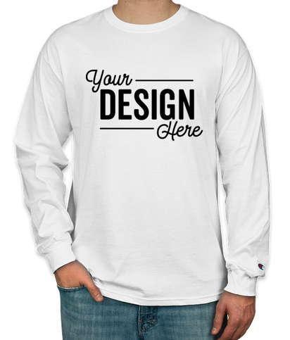 Champion Tagless Long Sleeve T-shirt - White