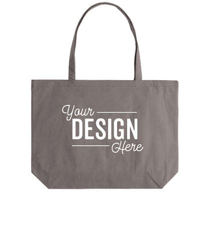Medium Midweight Pigment Dyed Canvas Tote Bag - Grey
