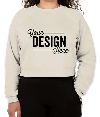 Bella + Canvas Women's Cropped Crewneck Sweatshirt - Vintage White