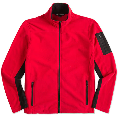 Port Authority Colorblock Full Zip Microfleece Jacket