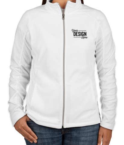 Port Authority Women's Full Zip Microfleece Jacket - White