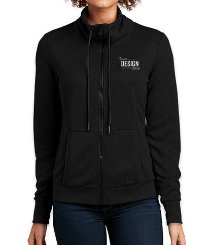 New Era Women's Performance Terry Full Zip Sweatshirt - Black