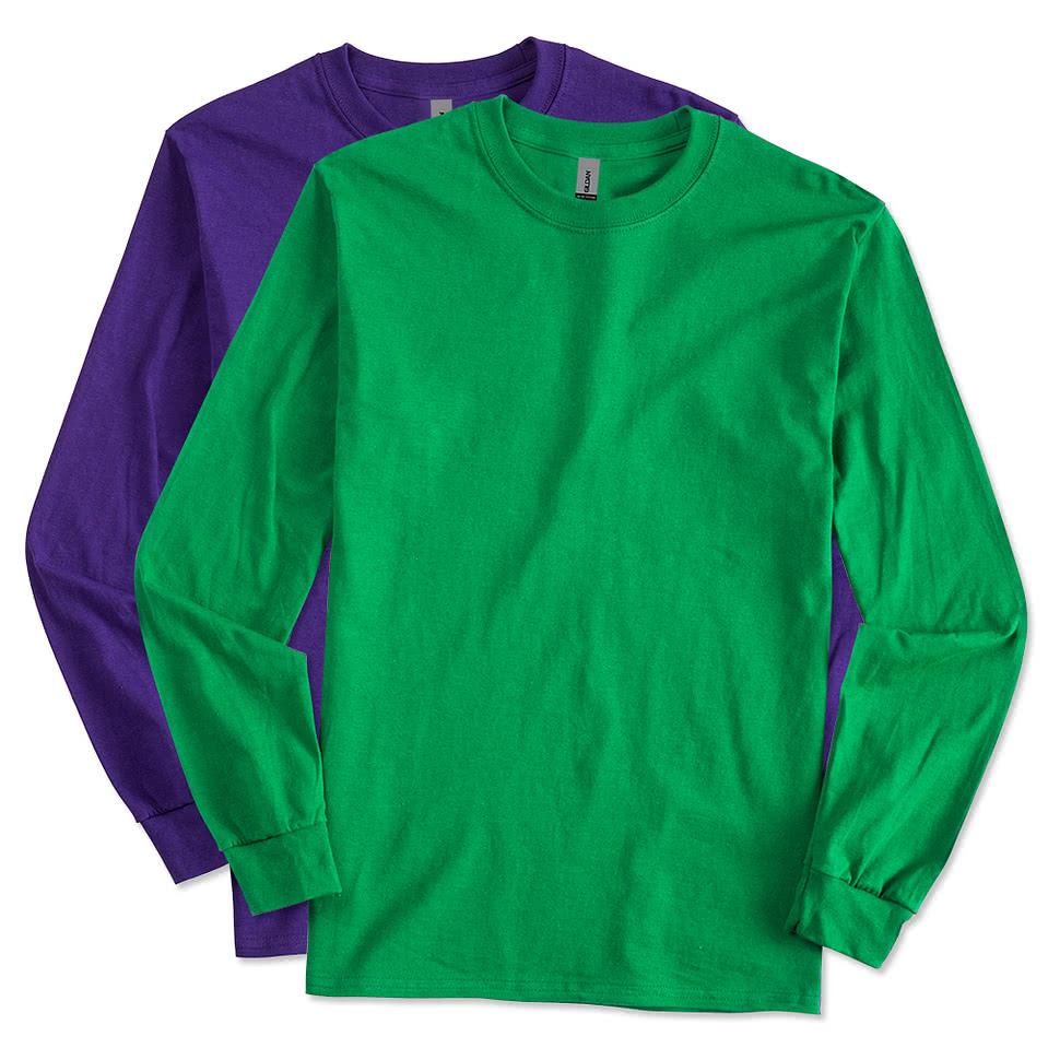 Design custom printed gildan ultra cotton long sleeve t for Make custom shirts online