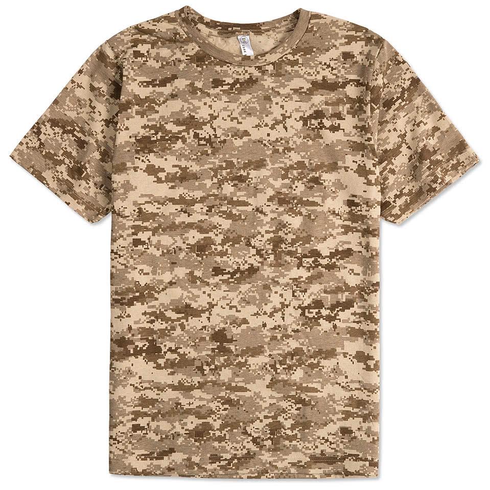Custom canada code 5 digital camo t shirt design t for Custom t shirts camouflage