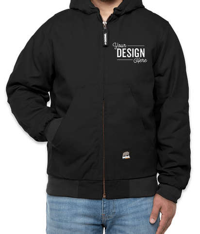 Berne Heritage Cotton Duck Hooded Jacket - Black