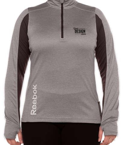 Reebok Women's Crossover Quarter Zip Performance Shirt - Heather Charcoal
