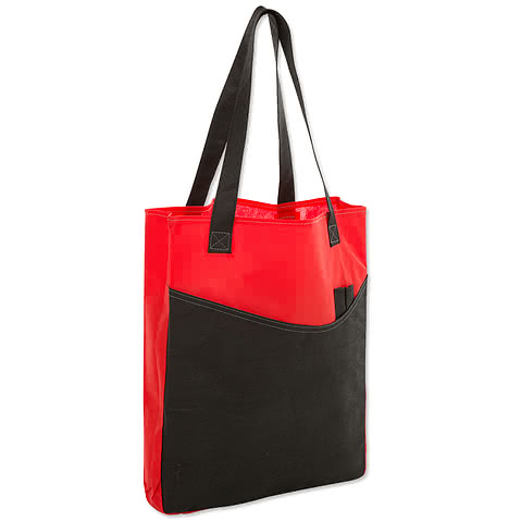 Promotional Non-Woven Pocket Convention Tote