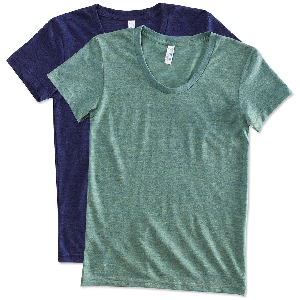 Custom american apparel juniors tri blend t shirt design for Made t shirts online