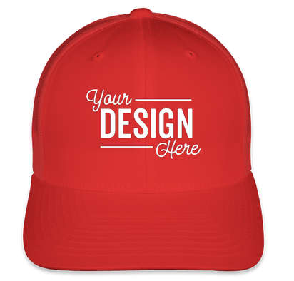 Yupoong Retro Trucker Hat - Red