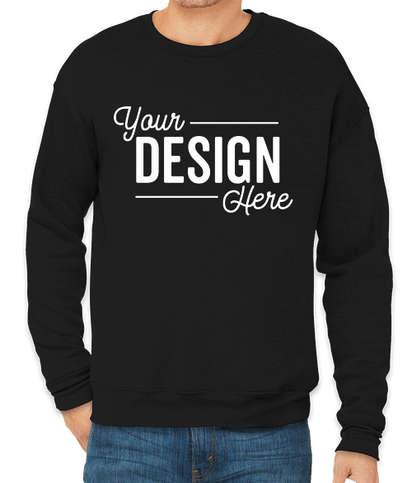 Bella + Canvas Ultra Soft Drop Shoulder Crewneck Sweatshirt - Black