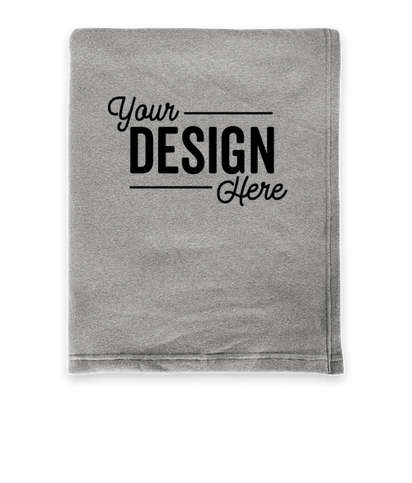 Premium Soft Blend Sweatshirt Blanket - Nickel