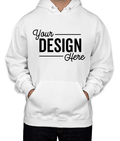 Canada - Jerzees Nublend 50/50 Pullover Hoodie - White