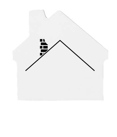 3M House Post‑it® Note - 25 sheets/pad - White