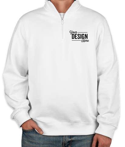 Sport-Tek Premium Quarter Zip Sweatshirt - White