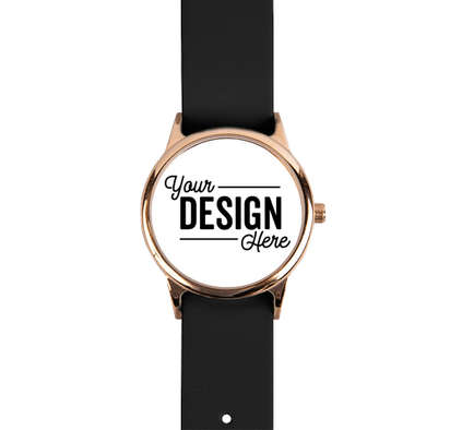 Rose Watch with Leather Band - White Face / Black Band