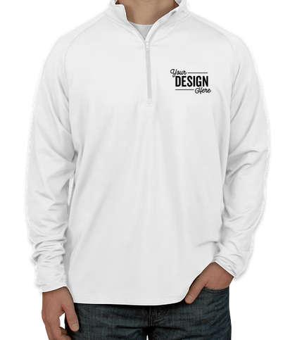 Sport-Tek Performance Half Zip Pullover - White