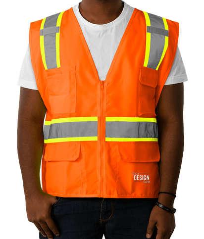 Kishigo Class 2 Contrast Safety Vest - Orange