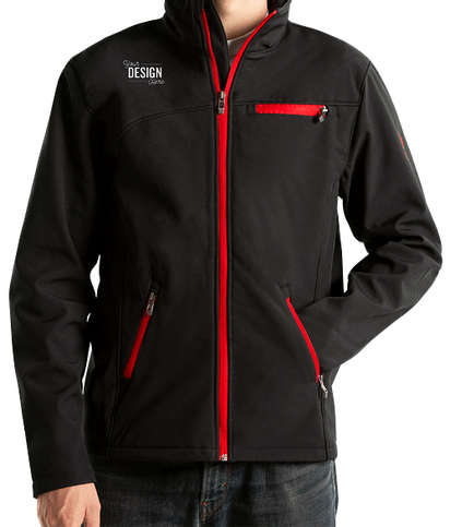 Spyder Transport Soft Shell Jacket - Black / Red